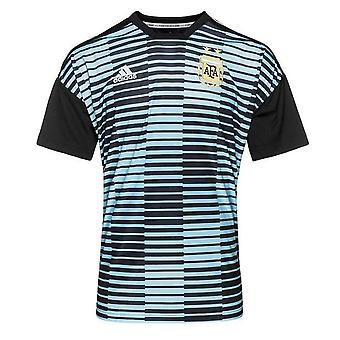 2018-2019 Argentinië Adidas Pre Match Shirt (blauw)