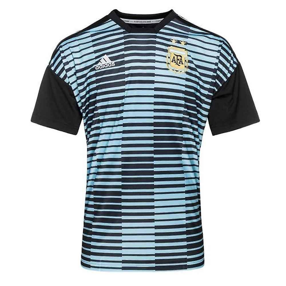 2018-2019 Argentina Adidas Pre-Match Shirt (Blue)