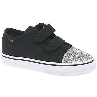 Vans Style 23 Velcro Girls Toddler Canvas Shoes