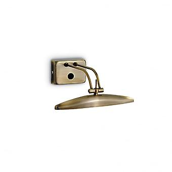 Ideal Lux Large Bronze Picture Light, 2 X G9, 25cm