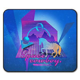 Caballo espacio broma moda ratón antideslizante alfombra Pad 24 cm x 20 cm | Wellcoda