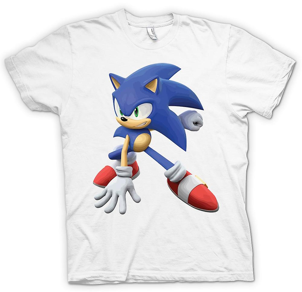 Womens T-shirt-Sonic The Hedgehog - Gamer