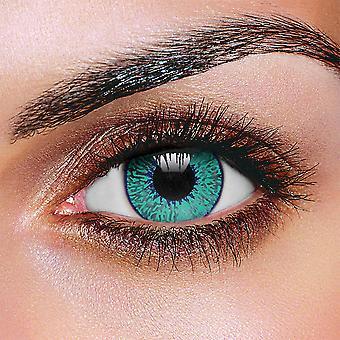 Two-Tone Mystic Aqua Contact Lenses (Pair)