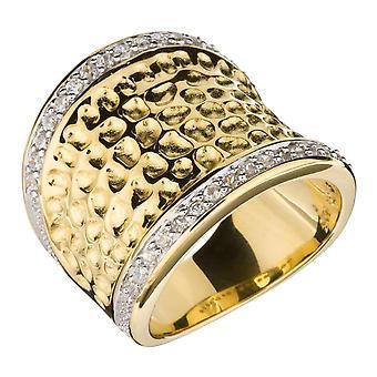 Orphelia plata 925 anillo oro circonio ZR-3600-oro