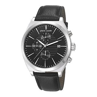 Pierre Cardin mens watch watch Chrono CAMBRONNE leather PC106701F02