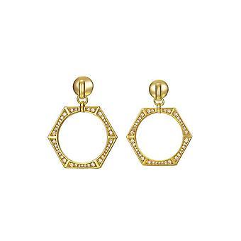 Joop women's earrings gold cubic zirconia EDGED JPER90351B000