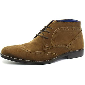 Red Tape Milton Tan Mens Brogue Ankle Boots