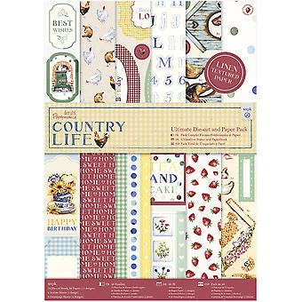 Papermania Ultimate A4 Die-Cuts & Paper Pack 48/Pkg-Country Life