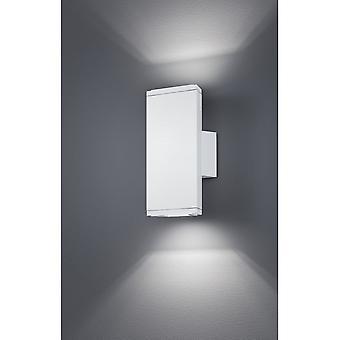 Trio Lighting Colorado Modern White Matt Diecast Aluminium Wall Lamp
