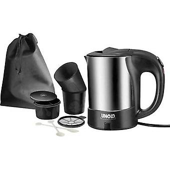 Unold 18575 Reise-Set Kettle corded Stainless steel, Black
