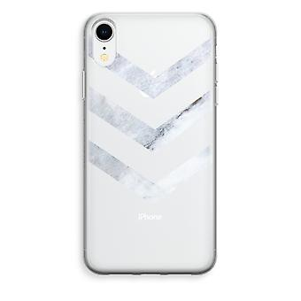 iPhone XR Transparant Case - Marble arrows