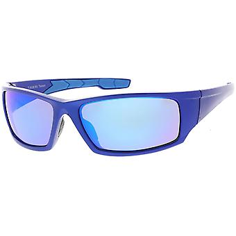 Rectangle TR-90 Wrap Sports Sunglasses Mirrored Lens 62mm