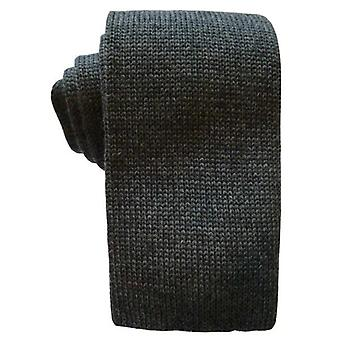 KJ Beckett Plain Wool Tie - Grey
