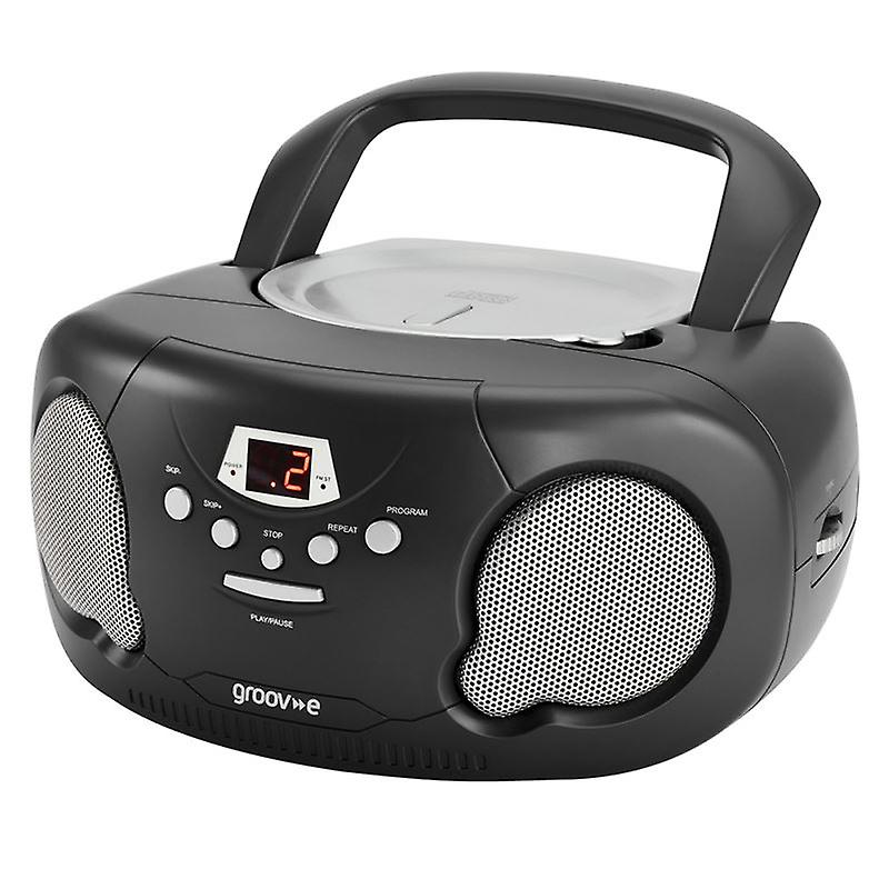 GVPS733BK Original Aux-In Boombox Portable CD Player with Radio - Black