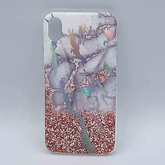 Für IPhone XR Fall-Marmor rosa Blume