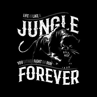 Life Is A Jungle Panther Men's Hooded Sweatshirt