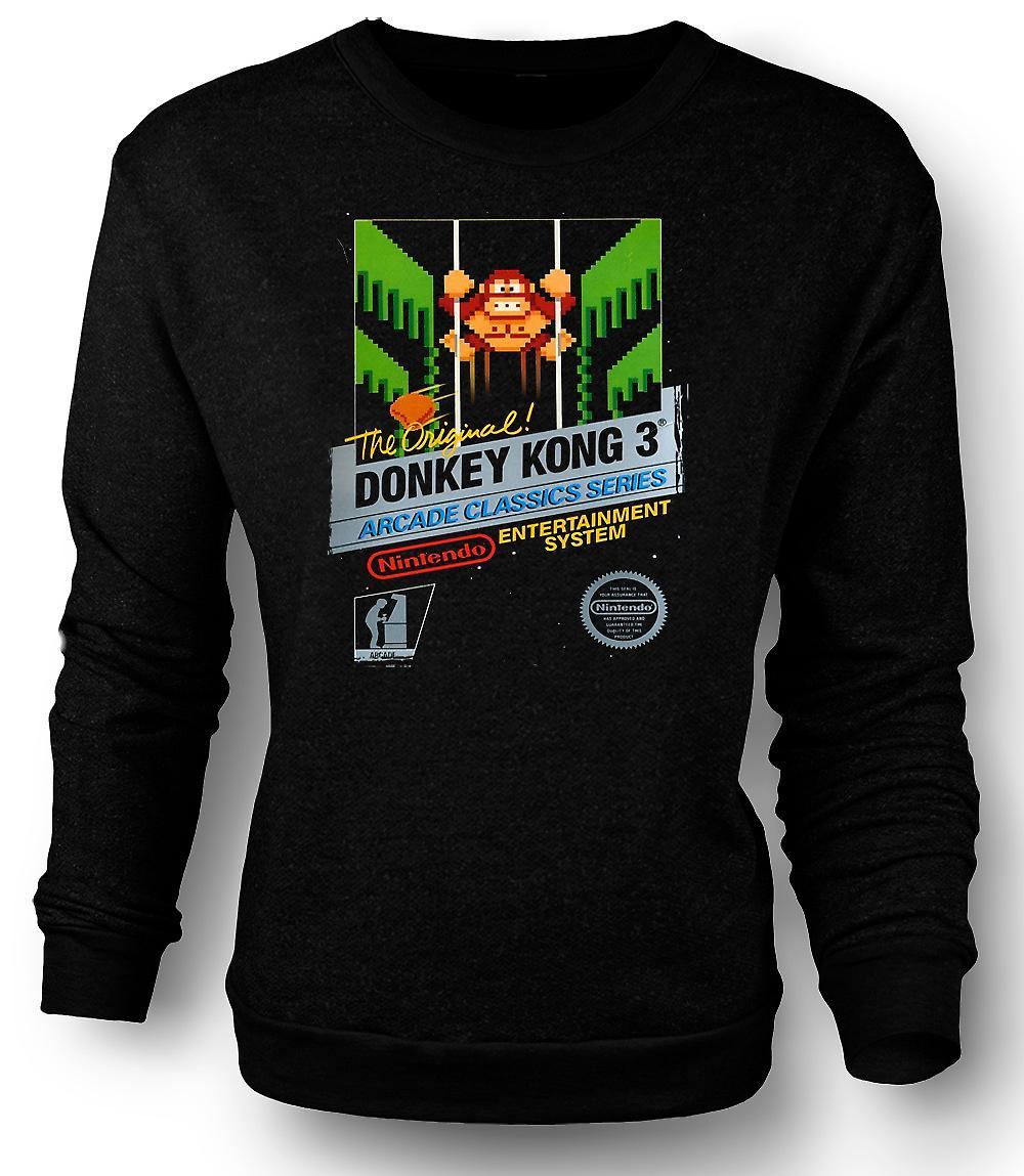 Mens Sweatshirt Nintendo - Esel Kong 3 spiller