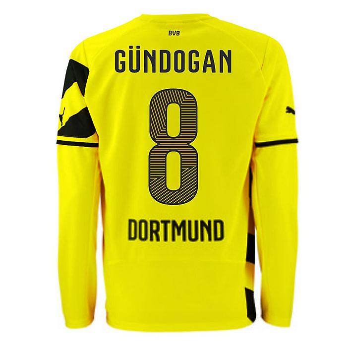 2014-15 Borussia Dortmund Long Sleeve Home Shirt (Gundogan 8)