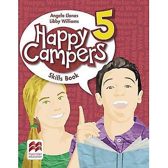 Livro de habilidades de nível 5 campistas felizes