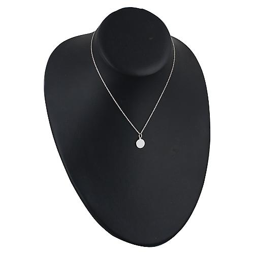 Silver 10mm plain round Disc with a rolo Chain 14 inches Only Suitable for Children