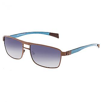 RAS Taurus Titanium en koolstofvezel gepolariseerde zonnebril - bruin/blauw
