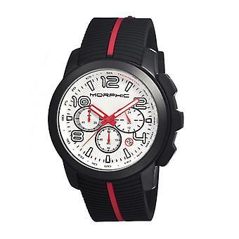 Morphic M22 Series Chronograph Men's Watch w/ Date - Black/White