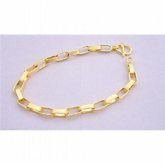 Gold Chained Bracelet Good Quality Gold Plated 7 1/2 Long Bracelet
