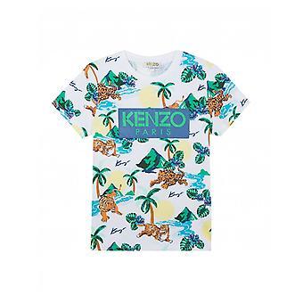 Kenzo Kids Logo Hawaiian T-shirt