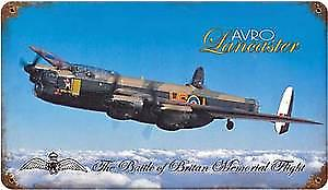 Avro Lancaster rusted metal sign   (pst 148)