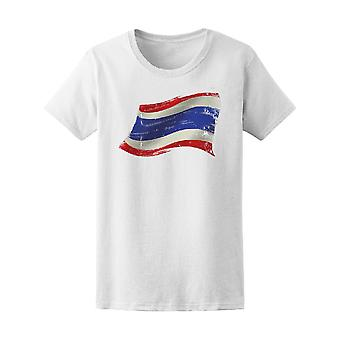 Flag Of Thailand In The Wind  Tee Men's -Image by Shutterstock