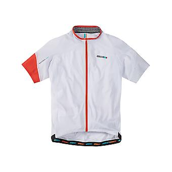 Madison White-Chilli Red 2016 Roadrace Light Short Sleeved Cycling Jersey