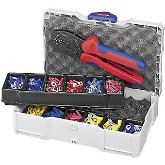 Knipex 97 90 21 Crimper Insulated cable lugs, Insulated connectors, Insulated butt connectors 0.5 up to 6 mm² Incl. crimp set and case