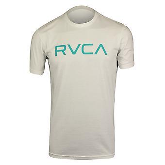 RVCA Mens Big RVCA Mens Standard T-Shirt - White/Aqua