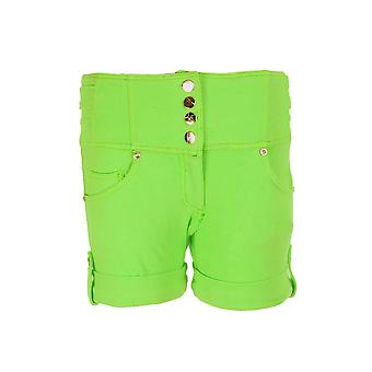 Nuovo signore alta vita Denim colorato Shorts Stretch Hot Pants per le donne