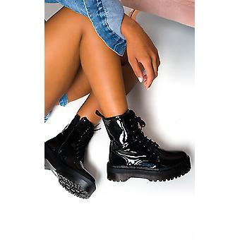 IKRUSH Womens Cherie Up Biker Boots