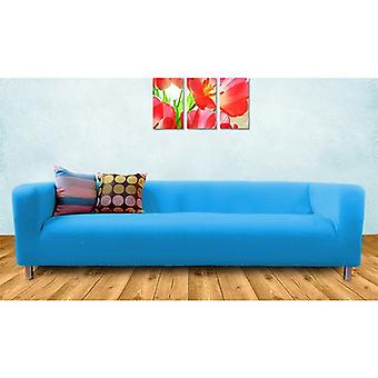 Replacement Cotton Cover for Ikea Klippan 4 Seater Sofa - Turquoise