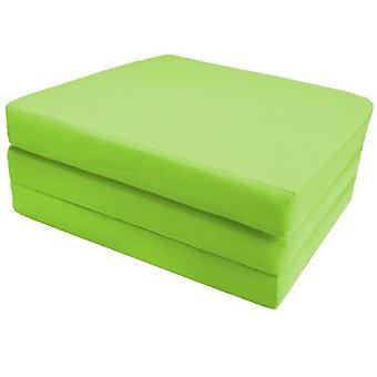 Cotton Single Fold Out Cube Futon - Lime