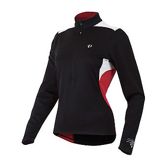 Pearl Izumi Black-Crimson Superstar Thermal Womens Long Sleeved Cycling Jersey