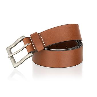 Tan 40mm Casual Jean Belt Brush Metal Buckle