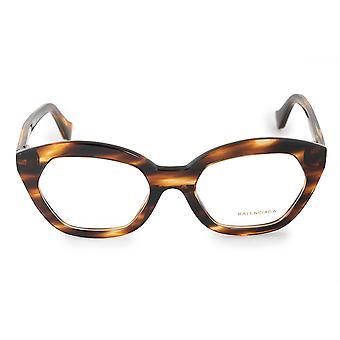 Balenciaga BA 5060 050 51 Hexagonal Cat Eye Eyeglasses Frames