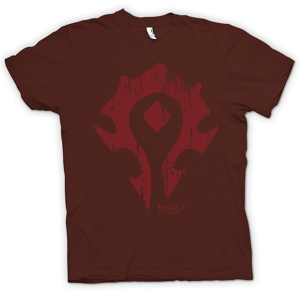 Mens t-skjorte - Horde Crest Logo - World Of Warcraft inspirert