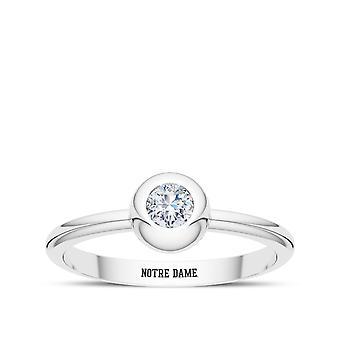 University of Notre Dame-Notre Dame graveret diamant ring