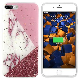 BackCover Marble Glitter voor Apple iPhone 8 Plus/7 Plus Wit