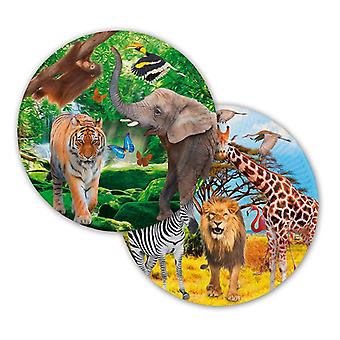 Party plate plate plate Safari kids party birthday 23 cm diameter 8 pieces