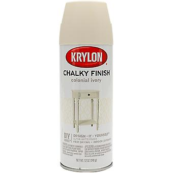 Chalky Finish Aerosol Spray Paint 12oz-Colonial Ivory CHK-4108