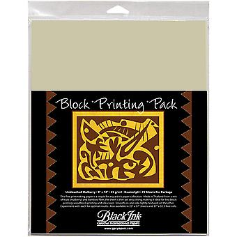 Block Printing Paper Pack By Black Ink Papers-Natural 9