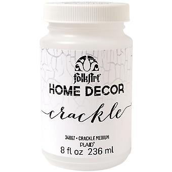 FolkArt Home Decor Crackle Medium 8oz-  HDCCRCK