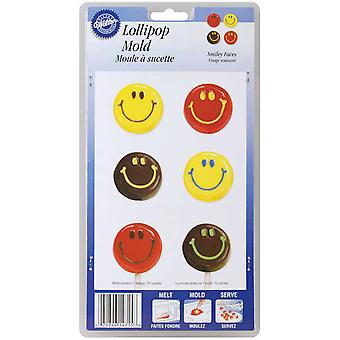 Lollipop Mold Smiley Faces 10 Cavity W1715