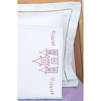 Children's Stamped Pillowcase With White Perle Edge 1 Pkg Princess 1605 469