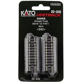 N Kato Unitrack 7078011 Feeder track 62 mm
